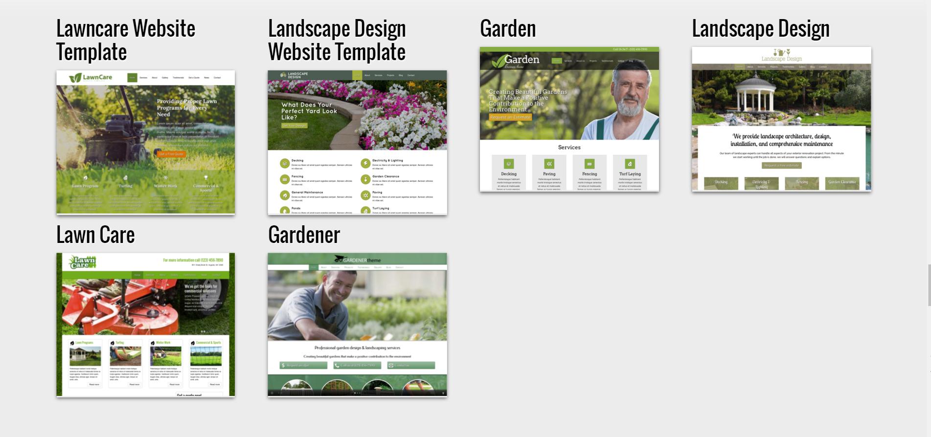 gardening-related-website-design